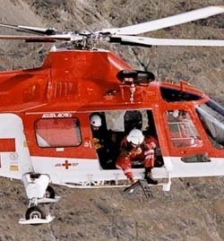 Efficient location by means of RECCO from a helicopter