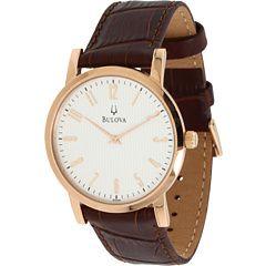 6pm || BULOVA Mens Dress - 97A108 || #6amto6pm #bulova #watch: Rose Gold Brown, 97A106 Rose, Dresses, Watches