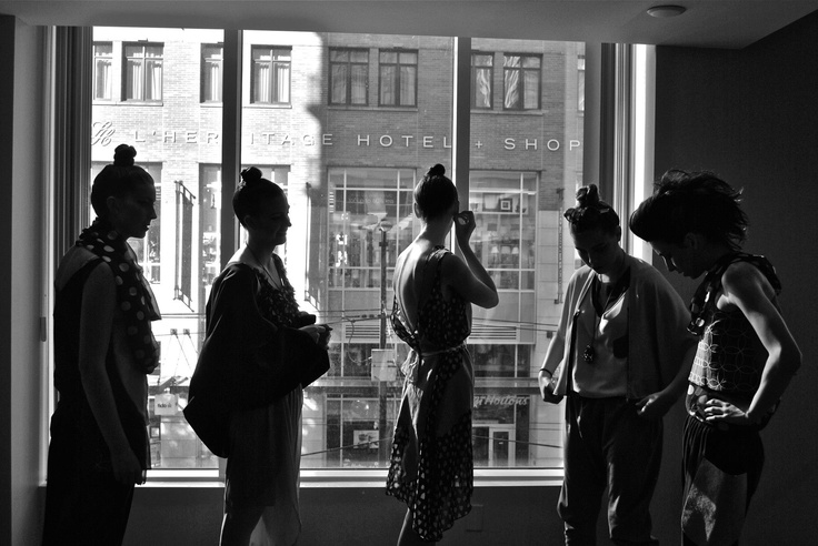 models awaiting backstage for a fashion show // Joyce Yeh Photography