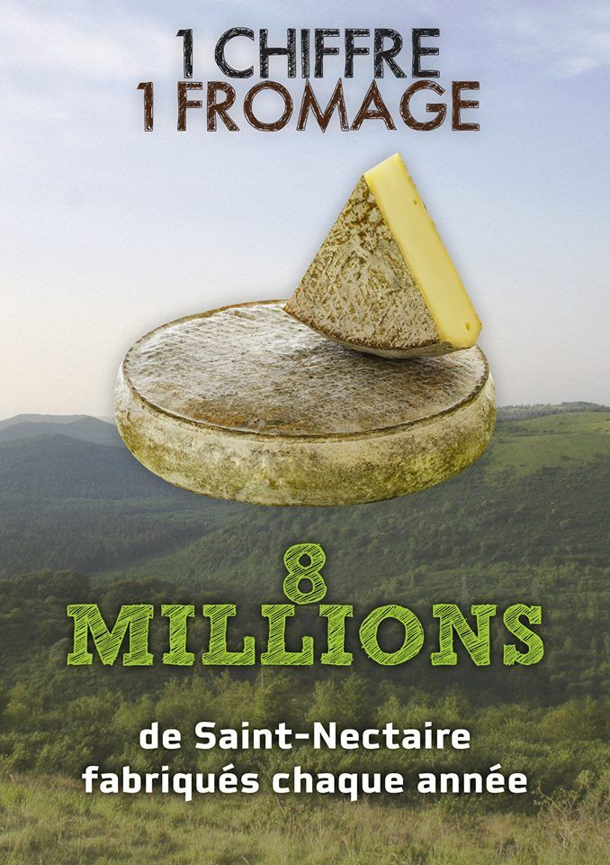 1 chiffre, 1 fromage : 8 millions ! #Fromage #SaintNectaire #Auvergne