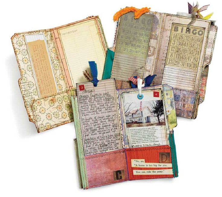 File Folder Art journal Pocket Pages