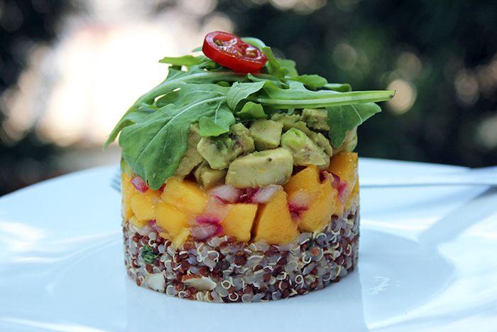 Mi Diario de Cocina | Timbale of quinoa, mango, and avocado | http://www.midiariodecocina.com/en/