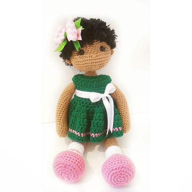 Custom Crochet Doll - Alpha Kappa Alpha Inspired by OliviaandMeBoutique on Etsy