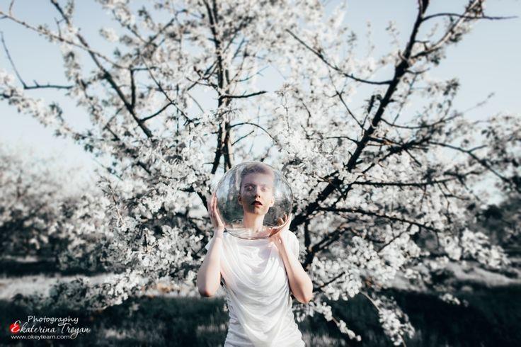 Art & Creative Art & Creative okeyteam kate troyan photo girl portrait woman white cosmos galaxy fantastic