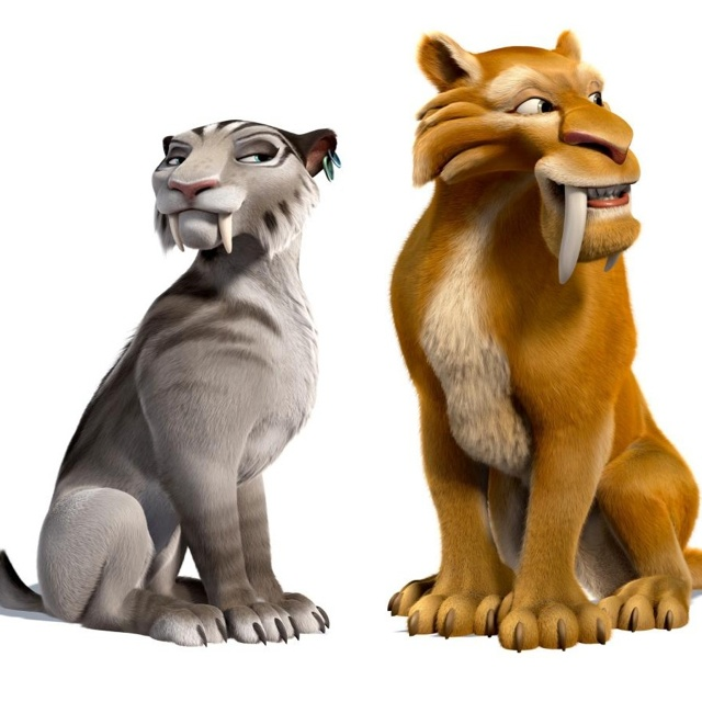 Shira and Diego from Ice Age 4