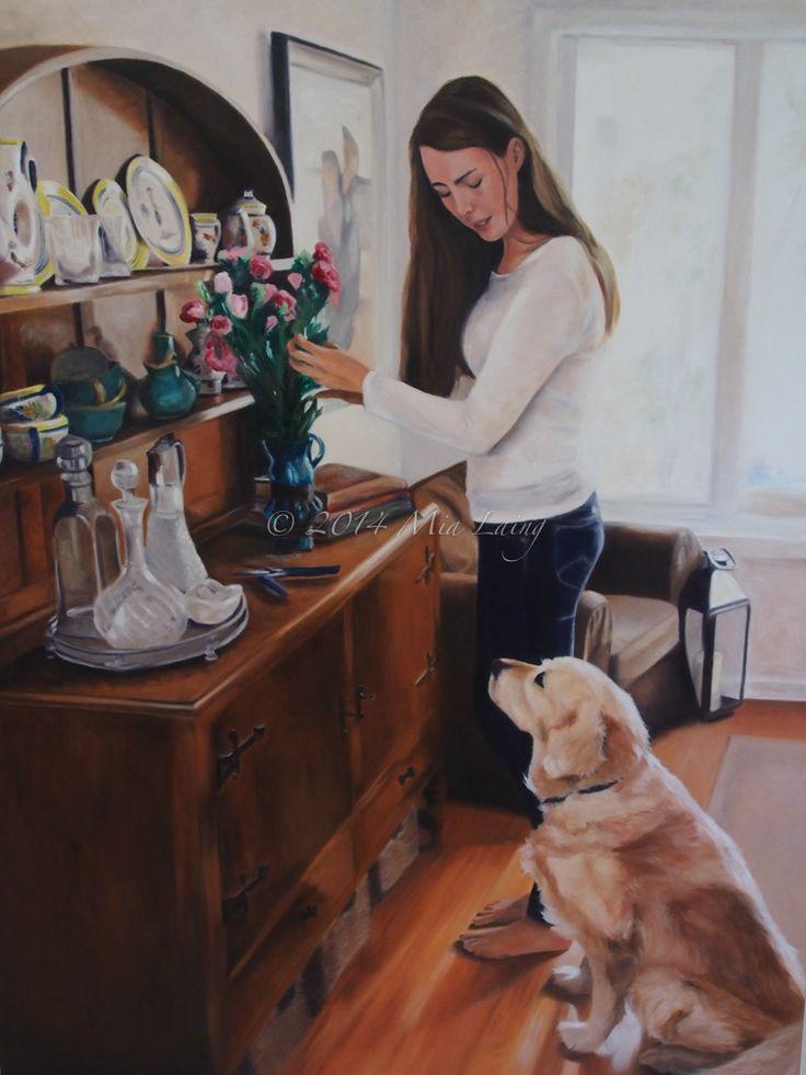 copyright Mia Laing 2014 oil on canvas - 'The Arrangement'
