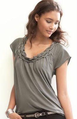 Customização de Camisetas - Como fazer uma trança na gola de sua camiseta ~ VillarteDesign Artesanato
