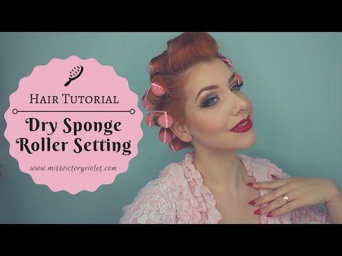 Dry Overnight Sponge Roller Setting Tutorial - Miss Victory Violet