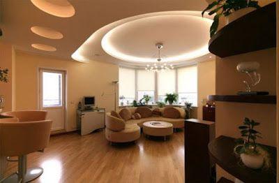 Striking Gypsum Board in Living Room - Home Interior Designs