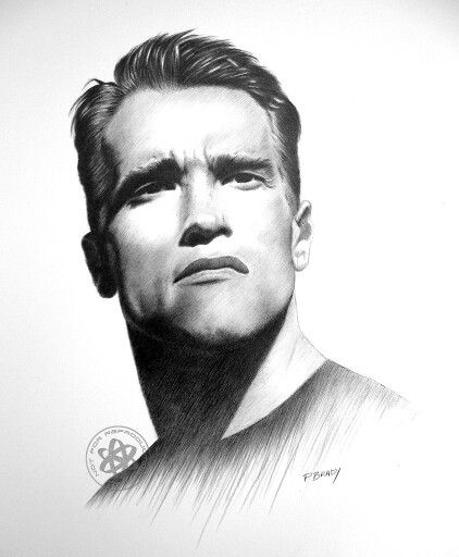 Unknown artist, although an amazing piece of art of my hero, Arnold Schwarzenegger
