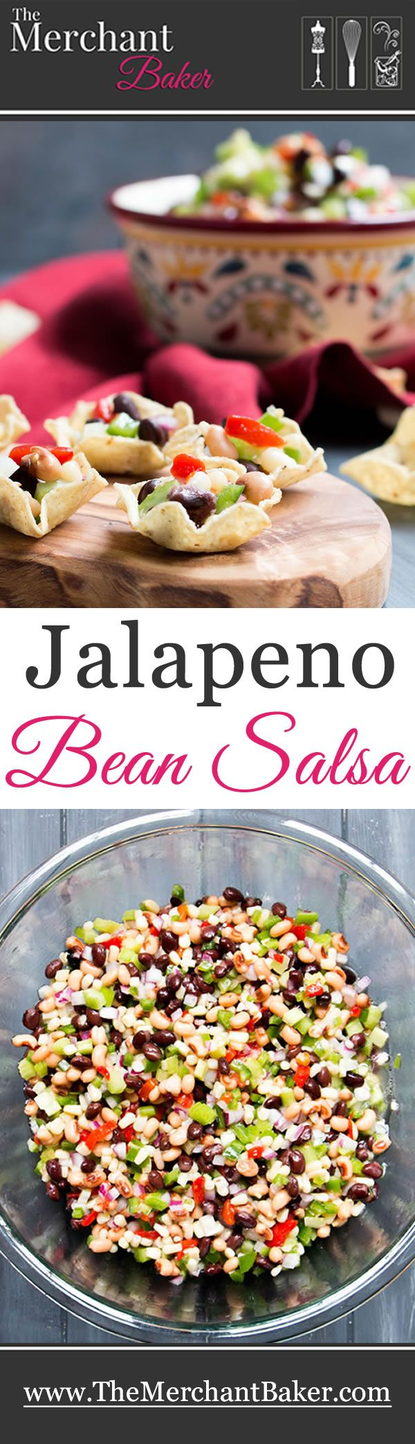Jalapeno Bean Salsa. Lightly sweet with a bit of heat, this salsa gets recipe requests everywhere it goes! It's a great make ahead recipe.