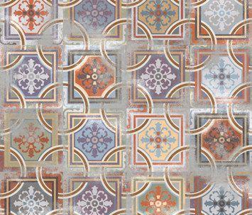 cementlap hatású kerámia: 1900 Comillas by VIVES Cerámica (fenti fürdő?)