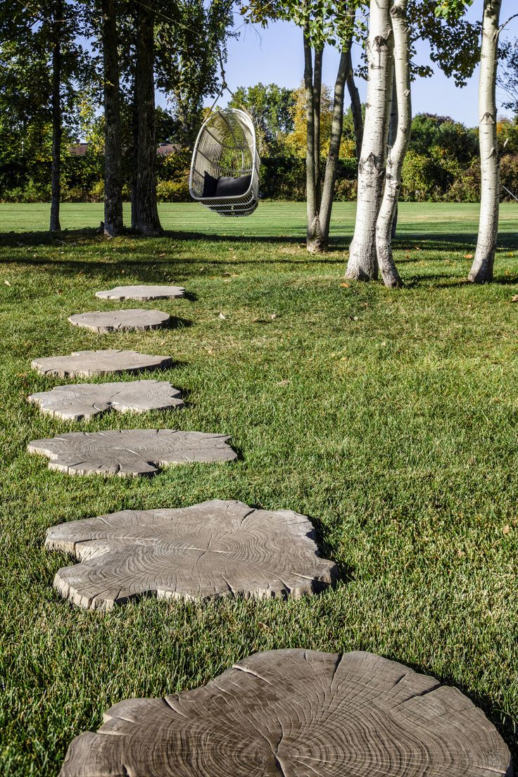 Rustic Retreat Inspiration #Borealis stepping stones slab in hazelnut brandy