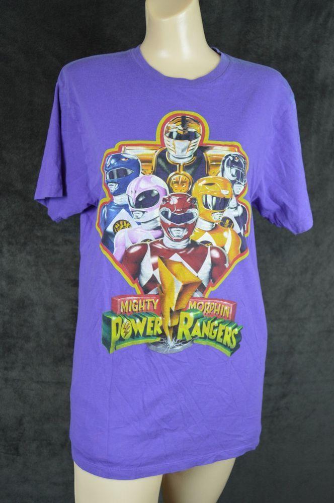 Mighty Morphin Power Rangers Super Legends Medium Purple T-shirt **SEE CONDITION #PowerRangersSuperLegends #ShortSleeve
