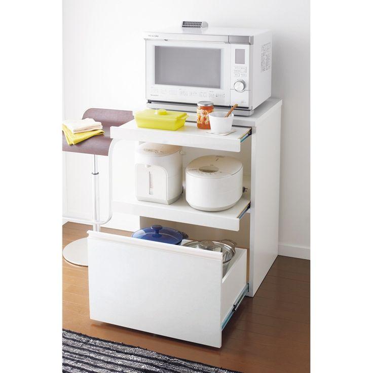 ディノス(dinos)オンラインショップ、こちらはダブルの作業台になる人工大理石調天板キッチン家電収納 幅60.5cmの商品ページです。商品の説明や仕様、お手入れ方法、 買った人の口コミなど情報満載です。