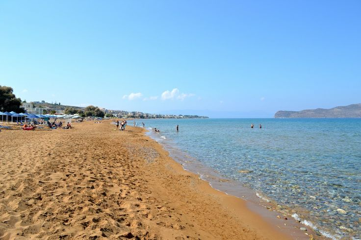 "Beach of Stalos in Chania... Won't you visit it ? I will ;) Just 200m away from Melina's House ""Studio & Apartments"""