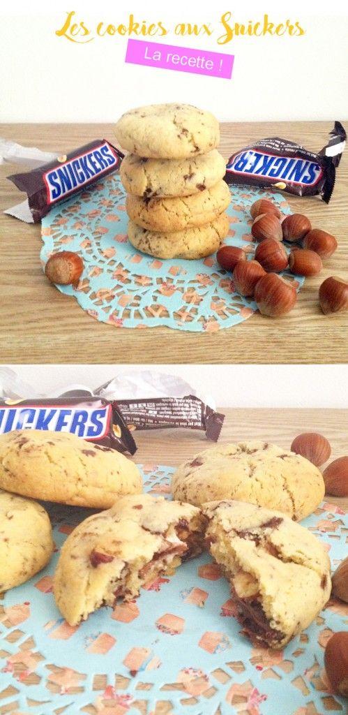 Je vous livre aujourd'hui une recette de cookiesaux snickers qui déchiiiiiiiiire ! Le genre de recettes que si un jour tu la fais à tes potes, ils te la réclameront à coup sûr avant de partir. C'est une véritable bombe gustative, calorique et glycémique...
