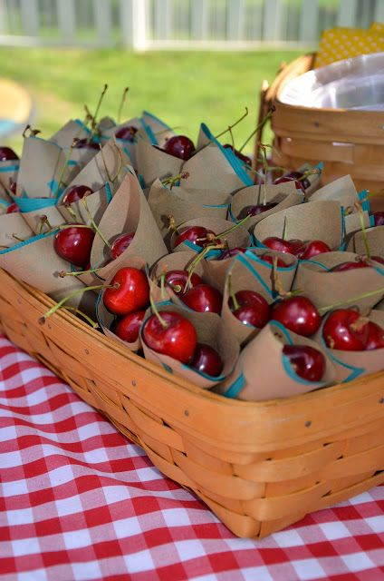 Cherries brighten up any summer party