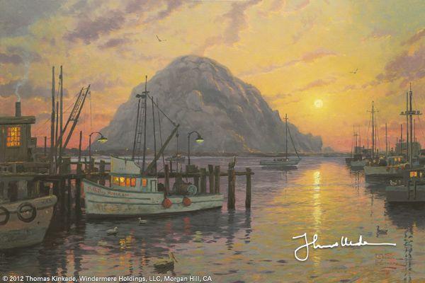 Morro Bay at Sunset by Thomas Kinkade