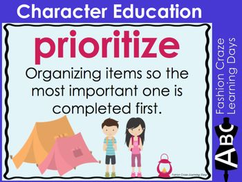 Character Education Posters with Social and Academic Vocabulary | TpT