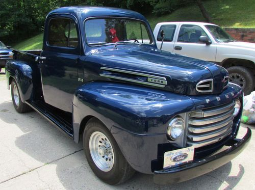 1950 ford f1 pick up pictures to pin on pinterest blue. Black Bedroom Furniture Sets. Home Design Ideas