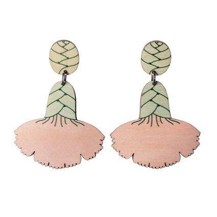 Neilikka-korvakorut / persikka-minttu