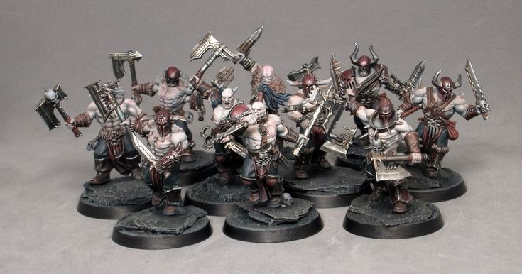 Opponent-Theory's Khorne Bloodreavers for Age of Sigmar. Miniature commission painting service.