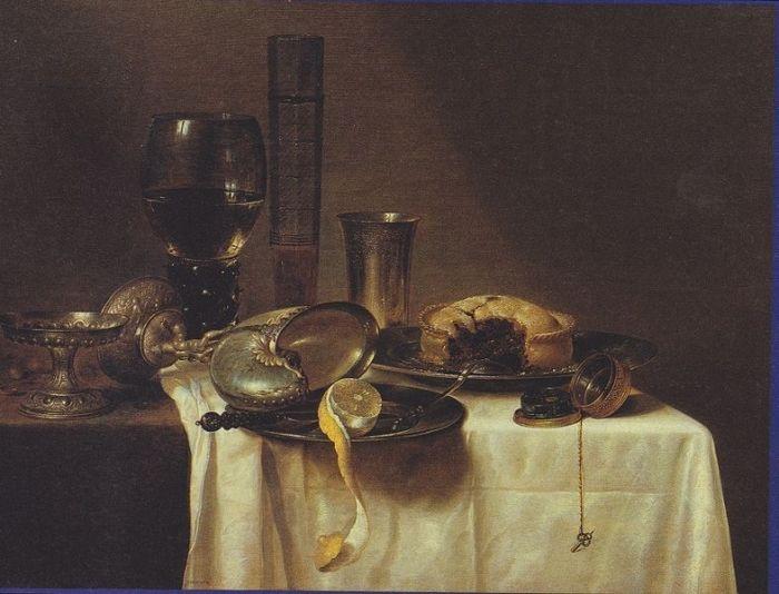 Willem Claesz (Claeszoon) Heda (1593/1594 — 1680/1682) Stillleben mit Nautiluspokal - 1640