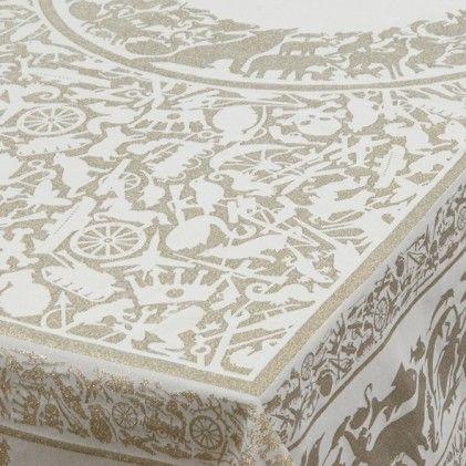 Tablecloth Pantheon gold | damask set Studio Job