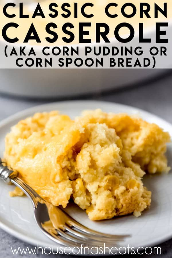 Easy Creamy Corn Casserole Easy Corn Casserole Recipe Corn Casserole Recipe Corn Bread Recipe