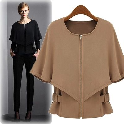 Dropshipping!2015 EUROPE Spring Autumn Women shawl coat fashion Leisure coat plus size jacket roupas femininas