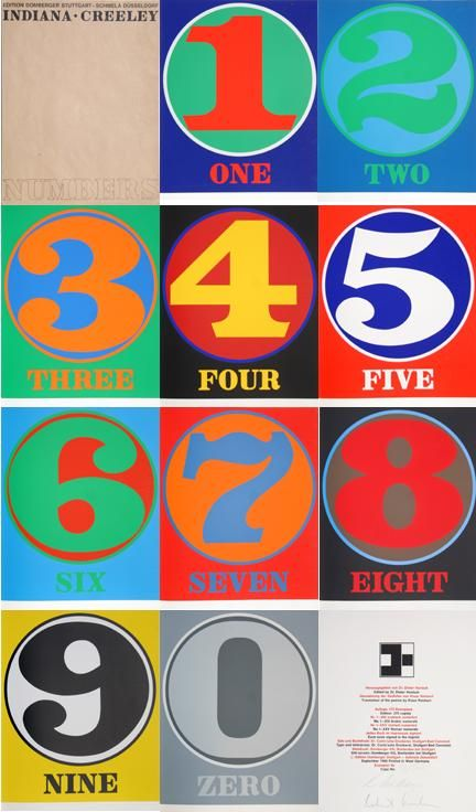 Robert Indiana, Numbers Portfolio, 10 Serigraphs