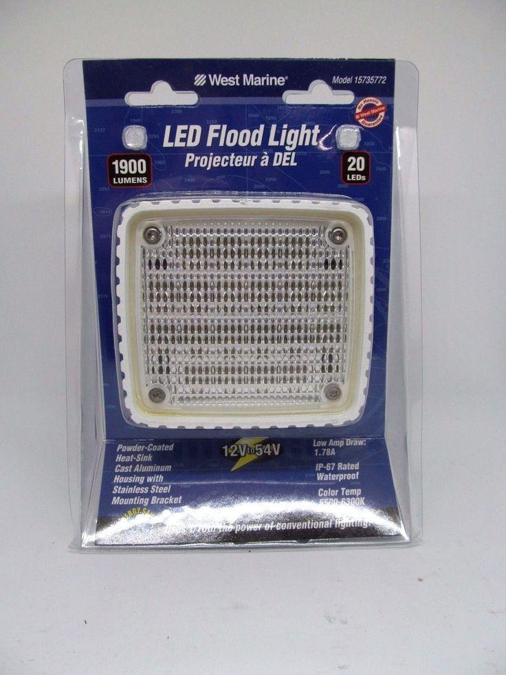 West Marine 15735772 LED Flood Lights 1900 Lumens 12V-54V DC Volts