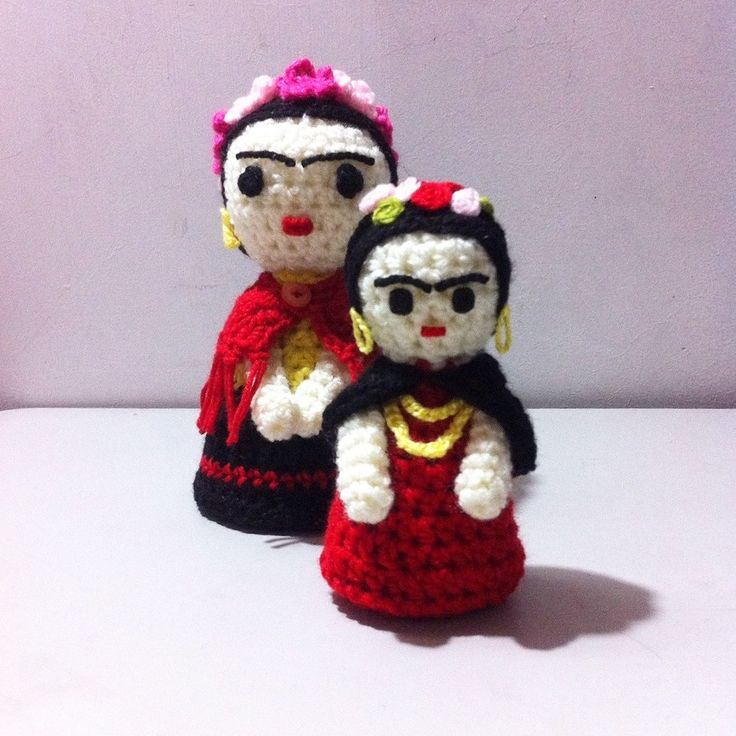 Peluche - Amigurumi - Frida Kahlo - Mini Frida - Crochet - Lussi Lu - Tejido