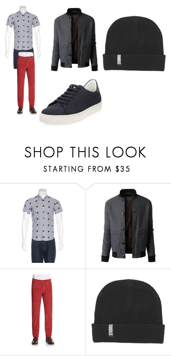 """""""hoe afra"""" by megross193 on Polyvore featuring Saturdays, LE3NO, Gant by Michael Bastian, Anya Hindmarch, men's fashion and menswear"""