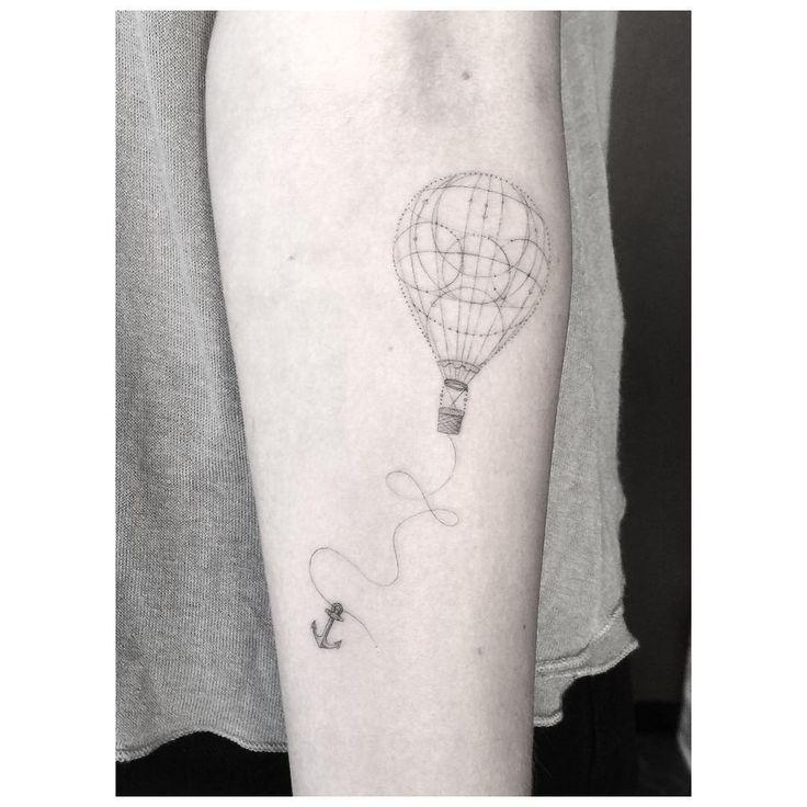 Fun lil balloon ⚓️ #supersingleneedle #superfineline