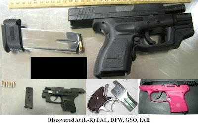 FRIDAY, SEPTEMBER 7, 2012: TSA Week in Review:  Firearms our Officers found in carry-on baggage since I posted last Friday(4)