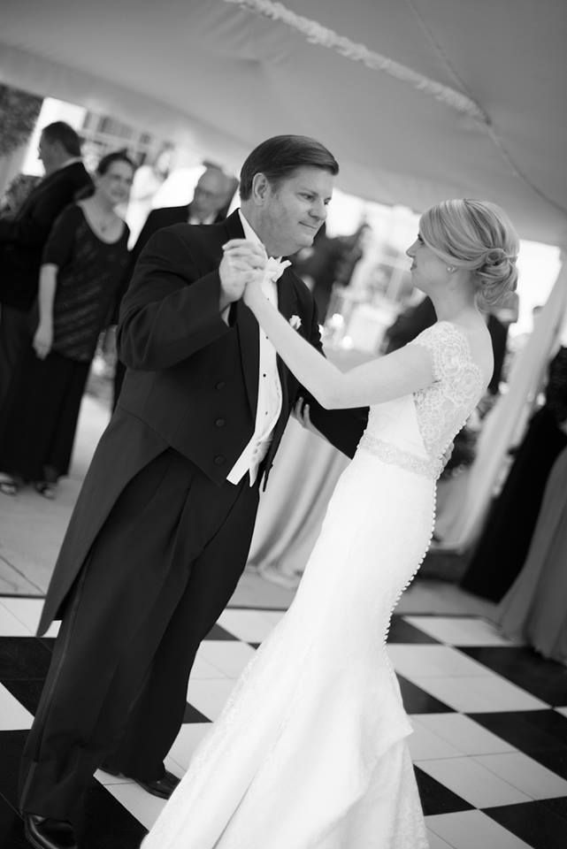 Share a special dance with your father on your big day, to show your appreciation and love for him. A great song choice for this special moment is My Little Girl by Tim McGraw.  #dance #weddingdance #signatureoccasions #fatherdaughterdance #fatherofthebride #wedding