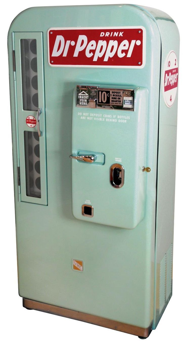 old school Dr  Pepper vending machine   OTROS TIEMPOS DE