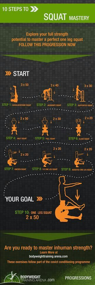 Squat progession for convict conditioning
