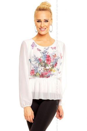 Bluzeczka Moda Flower 10774 BIAŁA