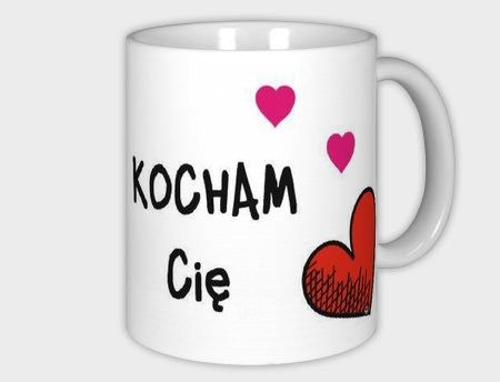 Kubek z nadrukiem, kocham cię prezent w Schmuck Dawanda  na DaWanda.com