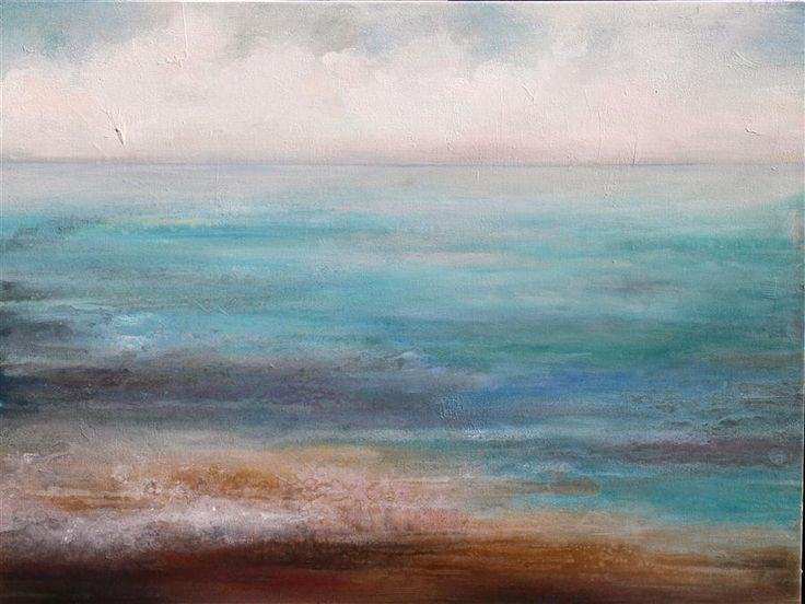Discover Original Art by Karen Hale | Water's Edge acrylic painting | Art for Sale Online at UGallery