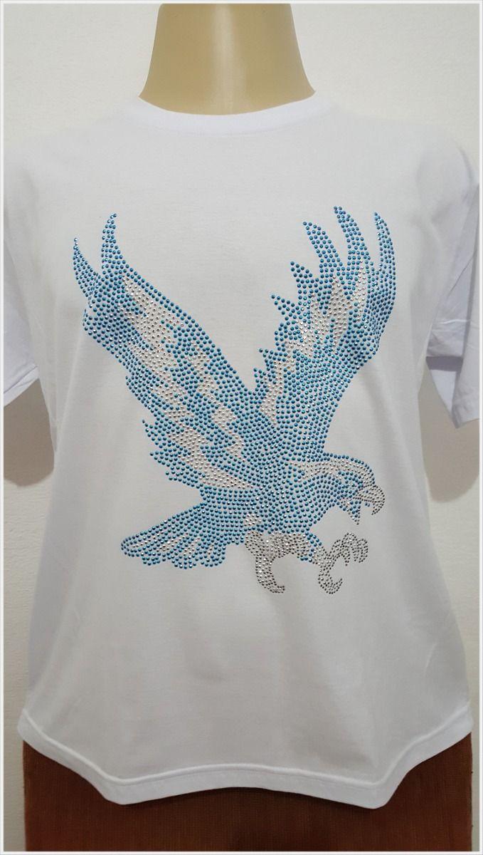 camisa de strass - águia portela