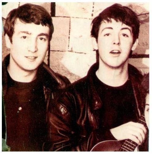 John Lennon and Paul McCartney. So young, so cute.