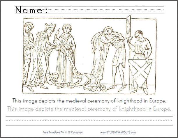 middle ages coloring pages printable - photo#11