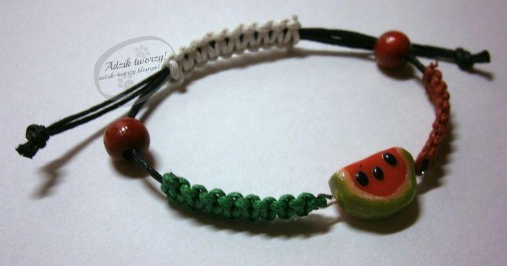 Handmade watermellon bracelet