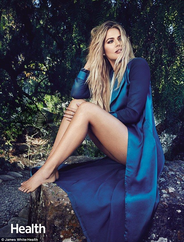 Times of trouble: Khloe Kardashian revealed to health magazine that after she helped manage the medical arrangements for her then-husband Lamar Odom after his overdose, 'my whole family changed all of their wills so that I would be their medical adviser