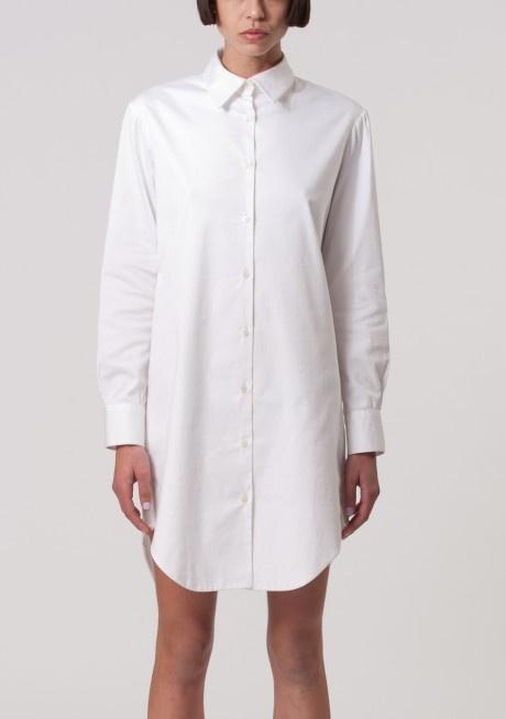 Charlie May  Crisp White Shirt Dress