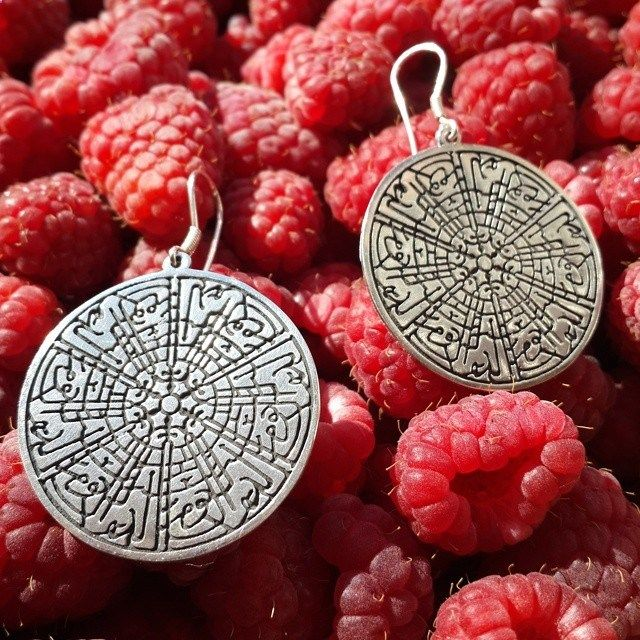 Adorable silver Earings Calligraphy.Amorem. Sterling silver. Made in Russia.